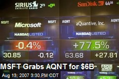 MSFT Grabs AQNT for $6B