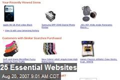 25 Essential Websites