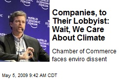 Companies, to Their Lobbyist: Wait, We Care About Climate