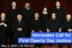 Advocates Call for First Openly Gay Justice