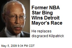 Former NBA Star Bing Wins Detroit Mayor's Race