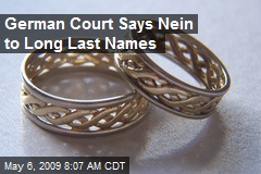German Court Says Nein to Long Last Names