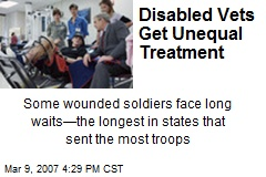 Disabled Vets Get Unequal Treatment