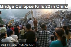 Bridge Collapse Kills 22 in China