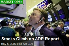 Stocks Climb on ADP Report