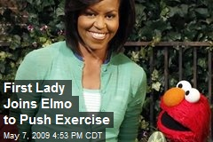 First Lady Joins Elmo to Push Exercise