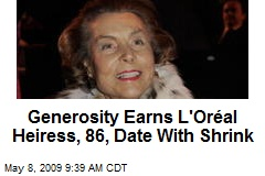 Generosity Earns L'Oréal Heiress, 86, Date With Shrink