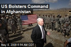 US Bolsters Command in Afghanistan