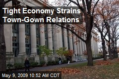 Tight Economy Strains Town-Gown Relations