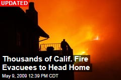 Thousands of Calif. Fire Evacuees to Head Home