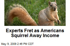 Experts Fret as Americans Squirrel Away Income