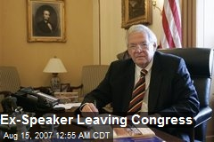 Ex-Speaker Leaving Congress