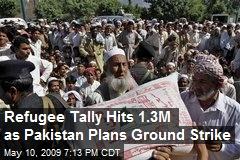 Refugee Tally Hits 1.3M as Pakistan Plans Ground Strike
