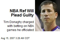 NBA Ref Will Plead Guilty