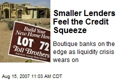 Smaller Lenders Feel the Credit Squeeze