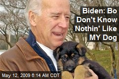 Biden: Bo Don't Know Nothin' Like MY Dog