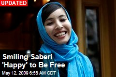 Smiling Saberi 'Happy' to Be Free