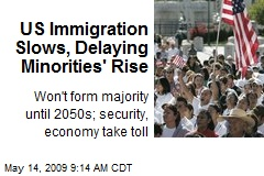 US Immigration Slows, Delaying Minorities' Rise