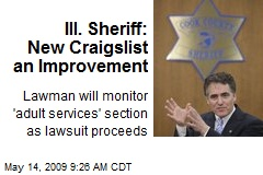 Ill. Sheriff: New Craigslist an Improvement