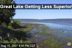 Great Lake Getting Less Superior