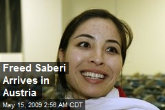 Freed Saberi Arrives in Austria