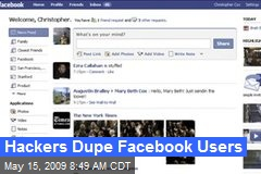 Hackers Dupe Facebook Users