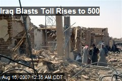 Iraq Blasts Toll Rises to 500