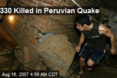 330 Killed in Peruvian Quake
