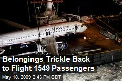 Belongings Trickle Back to Flight 1549 Passengers