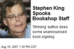 Stephen King Spooks Bookshop Staff