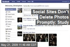 Social Sites Don't Delete Photos Promptly: Study