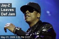 Jay-Z Leaves Def Jam