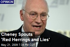 Cheney Spouts 'Red Herrings and Lies'