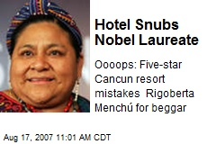 Hotel Snubs Nobel Laureate