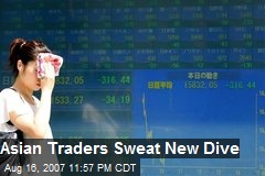 Asian Traders Sweat New Dive
