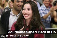 Journalist Saberi Back in US