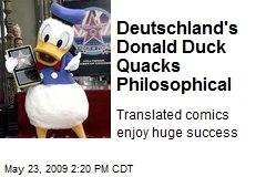 Deutschland's Donald Duck Quacks Philosophical