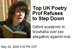 Top UK Poetry Prof Refuses to Step Down