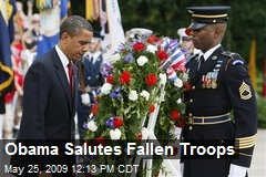 Obama Salutes Fallen Troops