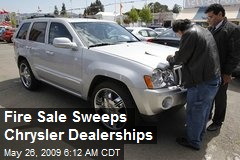 Fire Sale Sweeps Chrysler Dealerships