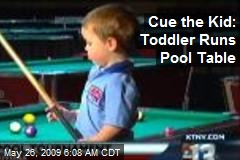 Cue the Kid: Toddler Runs Pool Table