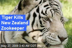 Tiger Kills New Zealand Zookeeper