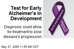 Test for Early Alzheimer's in Development