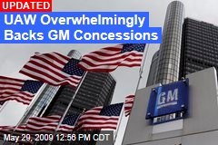UAW Overwhelmingly Backs GM Concessions