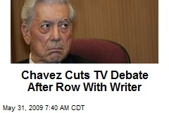 Chavez Cuts TV Debate After Row With Writer