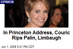 In Princeton Address, Couric Rips Palin, Limbaugh