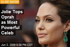 Jolie Tops Oprah as Most Powerful Celeb