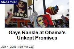 Gays Rankle at Obama's Unkept Promises