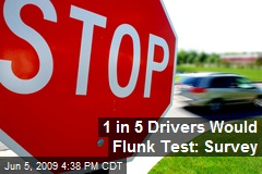1 in 5 Drivers Would Flunk Test: Survey