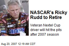 NASCAR's Ricky Rudd to Retire